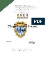 NIXON GOMEZ CODIGO ORGÁNICO PROCESAL PENAL