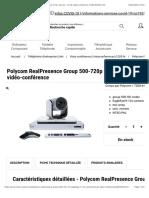 Bon Polycom RealPresence Group 500-720p with EagleEye IV 12x Camera - kit de vidéo-conférence (7200-64250-101)