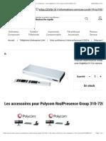 Polycom RealPresence Group 310-720p - kit de vidéo-conférence - avec EagleEye IV-12x camera (7200-65330-101)