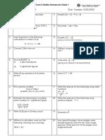 General Revision - Homework Sheet 1 (Ans)