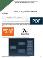 Programación Funcional Vs Programación orientada a Objetos – Estructura de datos I – Miguel Alfonso Ortiz Castedo