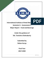 F&b majors report