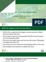 Mkhize Presentation May 2020