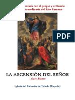 La Ascensión Del Señor. Propio y Ordinario de la santa misa