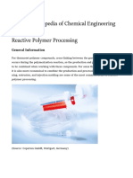 Reactive Polymer Processing