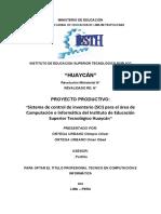 proyecto(Analizar, diseñar e implementar un sistema de inventario ).docx