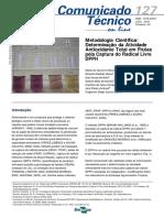 Metodologia científica - Determinação da atividade antioxidante total em frutas pela captura do radical livre DPPH.pdf