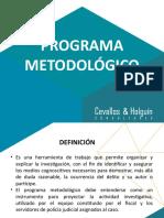 Presentación Programa Metodológico