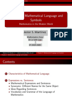 Part 1  Mathematical Language and symbols