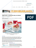 Saiba qual o consumo ideal de fibras - NUTRIÇÃO - Viva Saúde