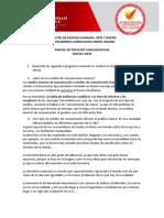 PARCIAL DE PROCESOS COMUNICATIVOS - TERCER CORTE