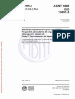 ABNT 10651-5 Ventiladores Pulmonares para uso médico - Parte 5 Reanimadores de emergência a gás.pdf