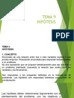 TEMA 9 HIPOTESIS (1)