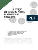 01 - Natureza e posição das algas na árvore filogenética (Bruno de Reviers)