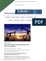 28 de abril_ Día de la Industria Nacional del Hierro y el Petróleo - Enterate24.com