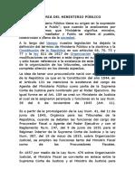 HISTORIA DEL MINISTERIO PÚBLICO