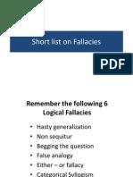 3 Fallacies