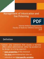 Manajemen Intoksikasi dan Keracunan Gas