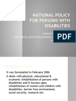 NATIONAL POLICY FOR disabilityPWD2006