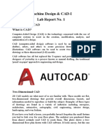 Machine Design & CAD-1 Lab report 1