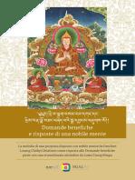 DP-QuestionsAnswers-ITA  La melodia di una proposta disposta con nobile mente da Panchen Losang Chökyi Ghialtsen come risposta alle Domande benefiche poste con una straordinaria attitudine da Lama Tsong Khapa
