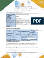 Guía de actividades y rúbrica de evaluación - Paso 2 - Reflexiono sobre vocación y ética en psicología (5)