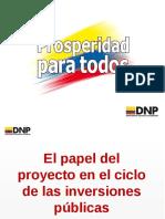 DNP El papel del proyecto en el ciclo  de la inversión pública (1)