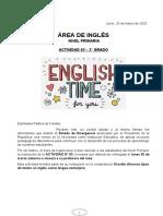 Actividad de Inglés 03 - 3° grado de Primaria (1)