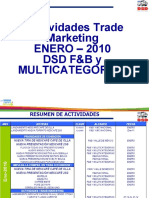 Actividades Trade Marketing ENERO 2010