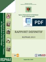 Rapport Definitif RGPHAE2013