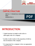 CHAPTER 7 CAPITAL STRUCTURE