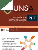 Programacion lineal para la optimizacion de recursos