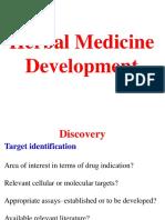 Herbal Medicine Development