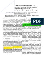 A NOVEL METHOD IN CLASSIFYING AND ANALYSING FAULTS IN RENEWABLE ENERGY POWER TRANSFORMERS