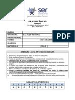 2016_1R_1 - CÁLCULO INTEGRAL