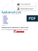 Administración de medicamentos y cálculo de dosis | booksmedicos