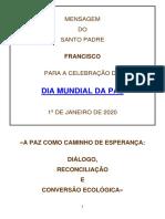 DIA MUNDIAL DA PAZ - 2020