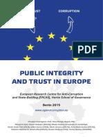 Mungiu-Pippidi et al - Public Integrity and Trust in Europe