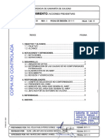 P.SGC.DG-06, Rev 3 Acciones preventivas