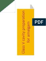 Class v Cavity Preparation for Amalgam [Compatibility Mode]