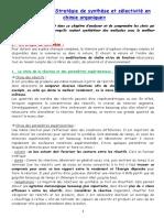 TS - Chapitre 16 - Stratégies de synthèse et sélectivité en chimie organique - avril 2020