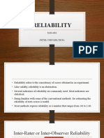 RELIABILITY-Report