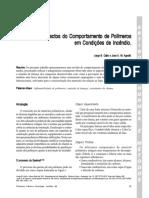 Aspectos do Comportamento de Polímetos em condição de incêndio