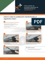 Cómo Cambiar Las Escobillas Delanteras de Limpiaparabrisas en Honda CR-V 2