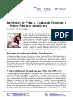 Recebendo de Volta a Conhecida Excelente e Segura Educação Australiana (PORTUGUESE)