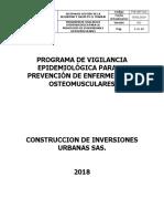 PVE-SST-002 Programa de Vigilancia Epidemiologica Osteomuscular