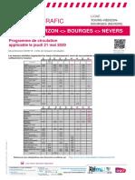 Trafic sur l'axe Tours-Vierzon-bourges (Nevers) du 21 Au 24 mai 2020