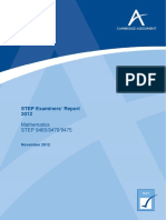 STEP Examiners Report 2012.pdf