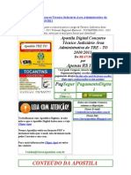 baixar Apostila concurso tre to tribunal regional eleitoral tocantins 2010 2011 gratis download Apostila Digital Concurso Técnico Judiciário Área Administrativa do TRE - TO 2010 2011  baixar