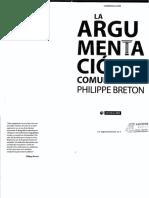 LA ARGUMENTACION EN LA COMUNICACION - BRETON